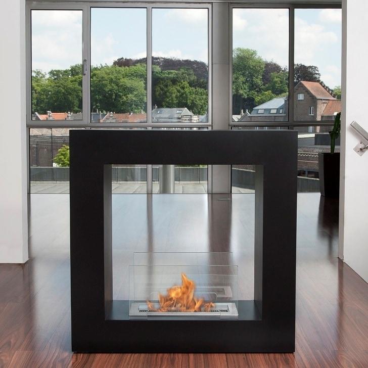 Bio-Blaze Black Qube Bio-Ethanol Fireplace - Small - Thumbnail 0