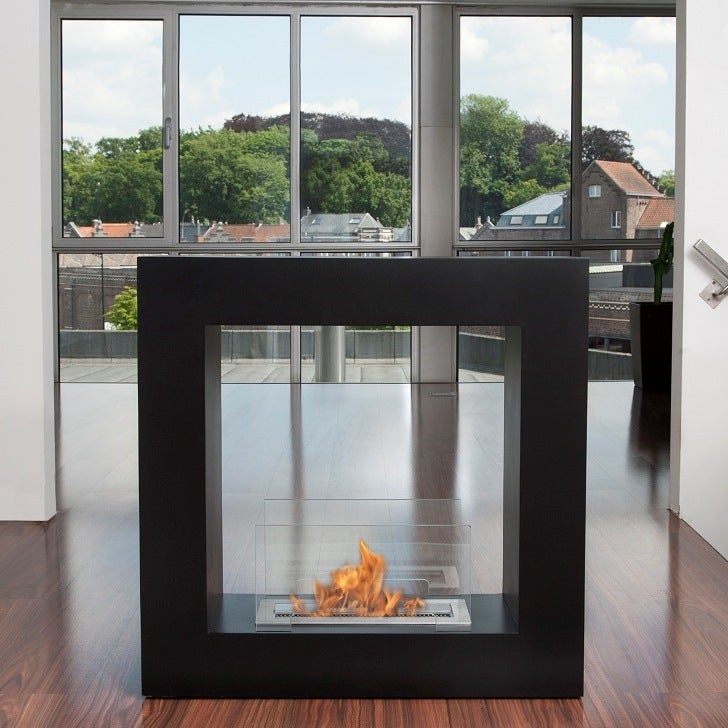 Bio-Blaze White Qube Liquid Fuel Fireplace - Small - Thumbnail 0