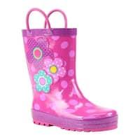 Western Chief Girls' Flower Cutie Rain Boot Pink