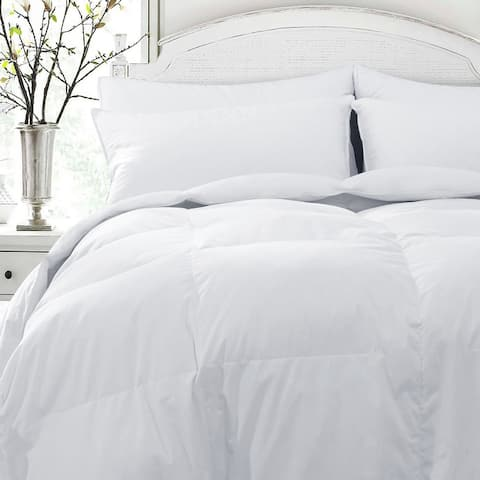 Luxury Year Round Goose Down Gusseted Duvet Comforter