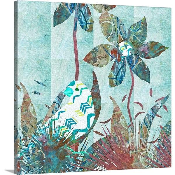 """""""Painted Bird"""" Canvas Wall Art"""