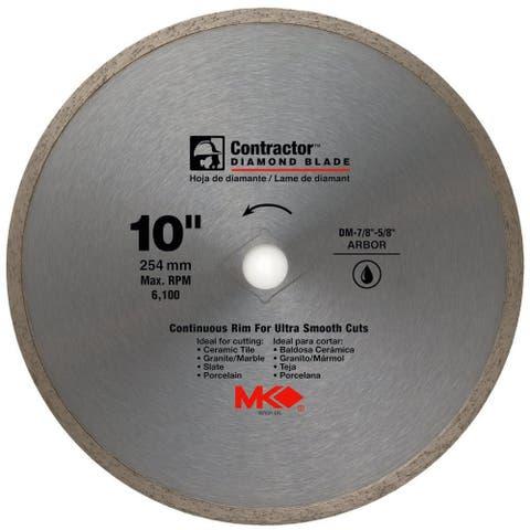 "MK Diamond 167031 Contractor Continuous Rim Diamond Blade, 10"""