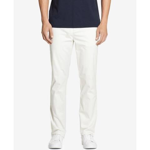 DKNY White Ivory Mens Pants 30X30 Straight Fit Tapered Slim Leg Chinos