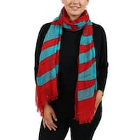 Moschino SCR11235/11 Red/Turquoise Signature  Scarf - 33-80