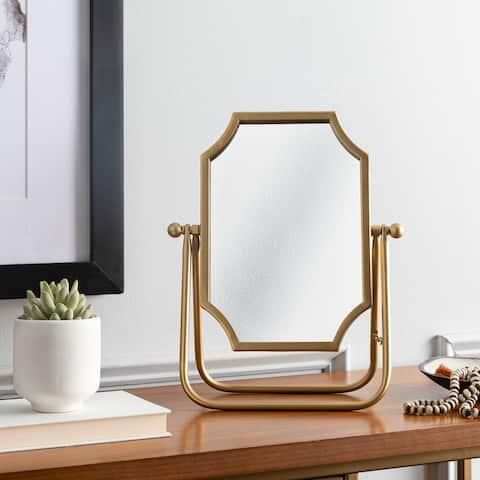 "Lacie Gold Adjustable 11x14-inch Tabletop Mirror - 14""H x 11""W"