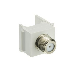 Offex Keystone Insert, White, F-pin Coaxial Connector, F-pin Female Coupler