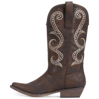 American Rag Womens DAWNN Leather Pointed Toe Mid-Calf Cowboy Boots