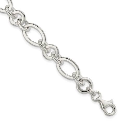 "925 Sterling Silver 5-strd Braided Bracelet, 8"" w/1in Extender"