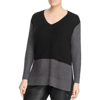 Vince Camuto Womens V-Neck Sweater Knit Tunic
