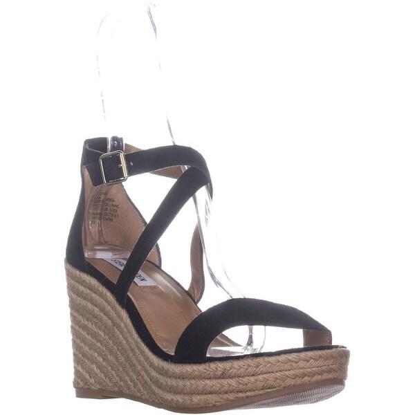 c3c67b8d436 Shop Steve Madden Montaukk Espadrille Sandals, Black Suede - 9.5 US ...