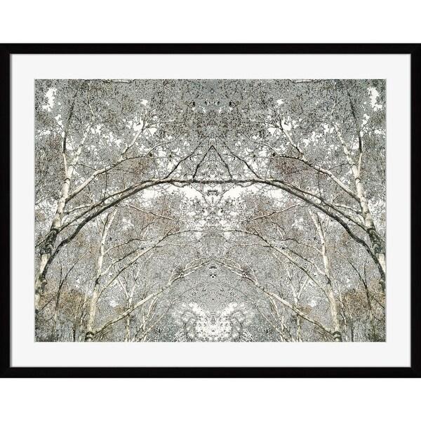 "White and Gray Tree Printed Rectangular Wall Art Decor 18"" x 21"" - N/A"