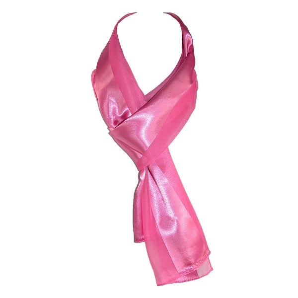 af13a120753fb Shop CTM® Women's Long Satin Solid Color Scarf - Free Shipping On ...