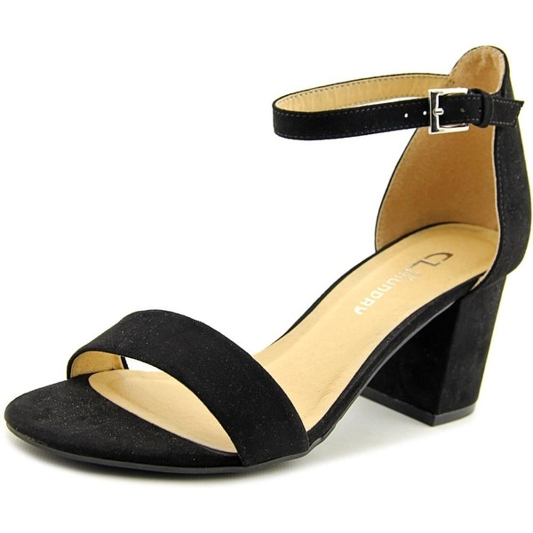 CL By Laundry Jessie Women Open-Toe Synthetic Black Slingback Heel