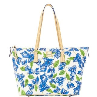Dooney & Bourke Bougainvillea Zip Top Shopper (Introduced by Dooney & Bourke at $248 in Dec 2015) - white blue