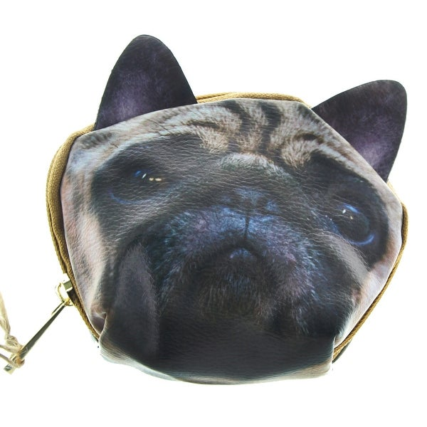 Dog Zippered Coin Purse - Multi