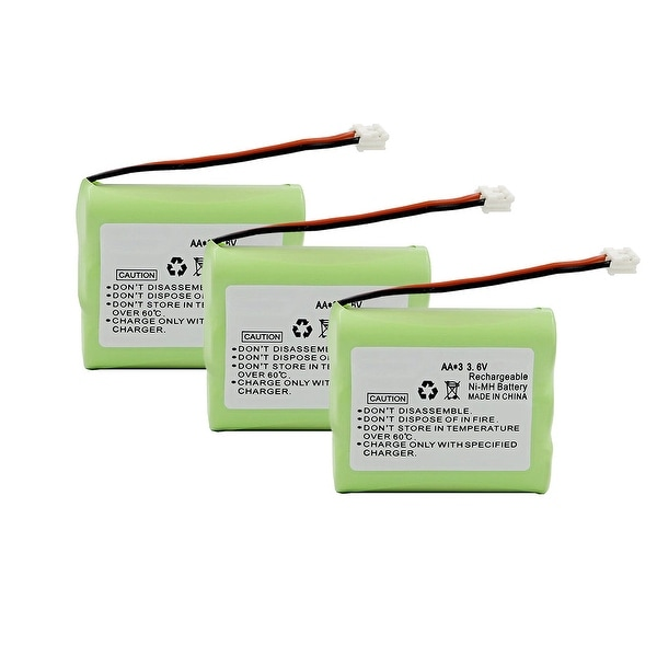 Replacement VTech 3301 / ia5845 NiCd Cordless Phone Battery - 600mAh / 3.6v (3 Pack)