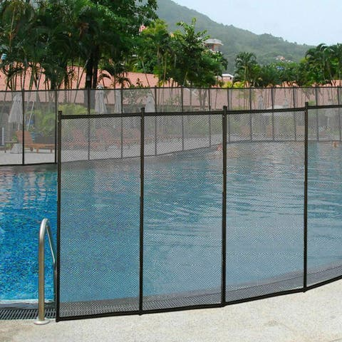 Costway 4'x48' In-Ground Swimming Pool Safety Fence Section 4 Set 4'x12' - as pic