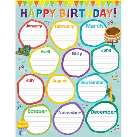 World of Eric Carle Birthday Chart