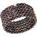 D'AMA Women's Pearl Bracelet - Easy-On Stretch 5 Strand With Stainless Steel Spacer Beads - Thumbnail 4