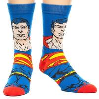 Superman Face Blue Men's Crew Socks