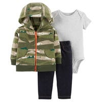 Carter's Baby Boys' 3-Piece Little Jacket Set - Camo