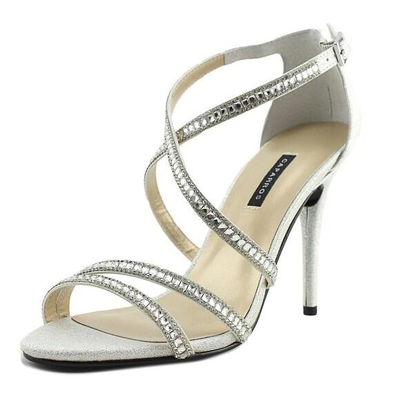 Caparros Chelsea Women Open-Toe Canvas Silver Heels
