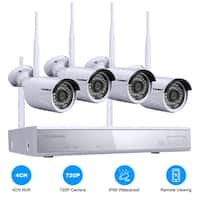 Shop SANNCE 4CH Wireless 720P CCTV Security Cameras System - Free