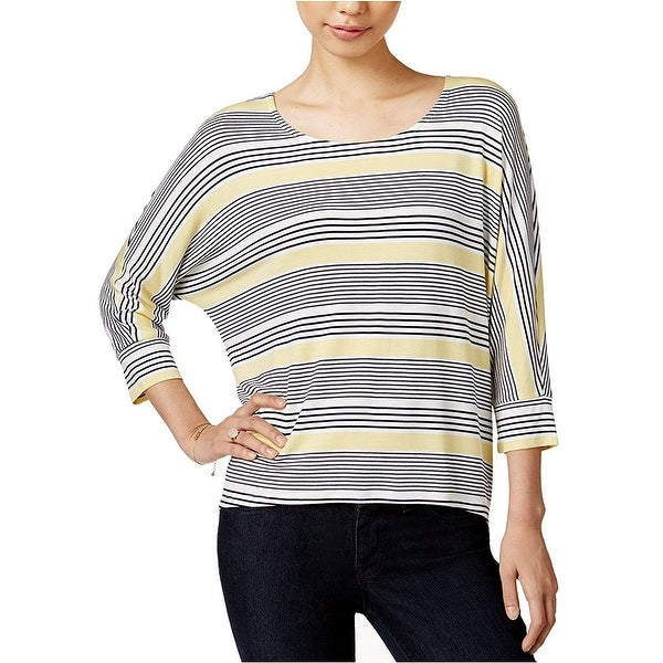 272039efaa646 Shop Maison Jules Striped Dolman Sleeve Top Shirt Sunset Stripe - XL - Free  Shipping On Orders Over  45 - Overstock.com - 22972861