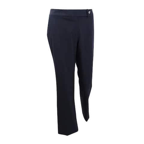 Calvin Klein Women's Petite Trouser Leg Suiting Pants - Charcoal