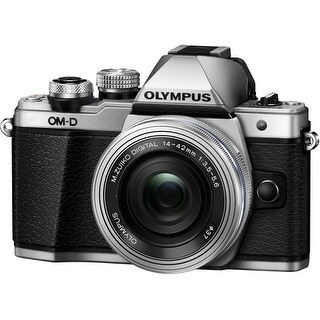 Olympus V207052SU000 Olympus OM-D E-M10 Mark II 16.1 Megapixel Mirrorless Camera with Lens - 14 mm - 42 mm - Silver - 3""