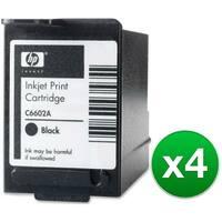 HP Black POS Ink Cartridge High Yield (C6602A) (4-Pack)