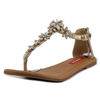 Unionbay Jewel Women Open-Toe Synthetic Gold Slingback Sandal