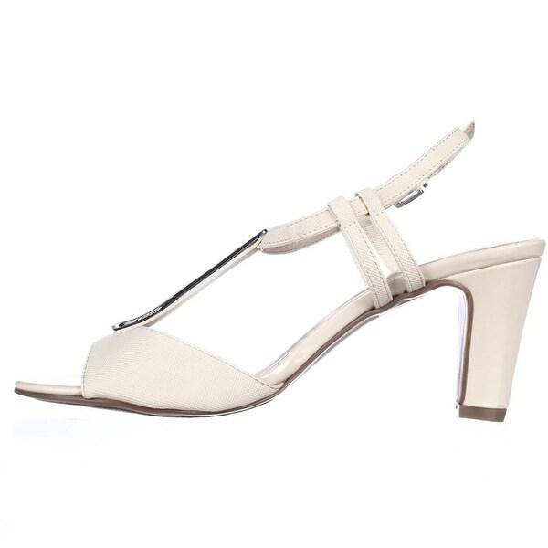 Karen Scott Womens Lorahh Open Toe Casual T-Strap Sandals, Bone, Size 9.5