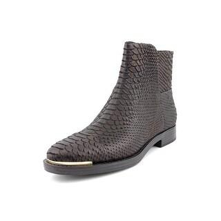 Enzo Angiolini Emni Women  Round Toe Leather Black Ankle Boot
