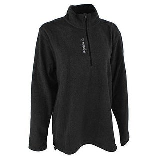 Reebok Womens Light Microfleece 1/4 Zip Chr, Charcoal Heather, Xl - X-LARGE
