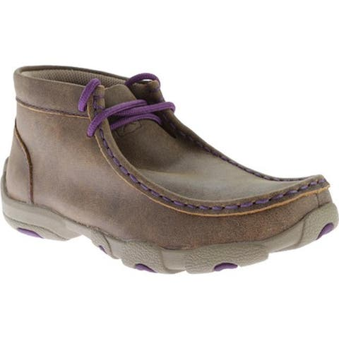 Twisted X Boots Children's YDM0012 Cowkid's Driving Moc Bomber/Purple