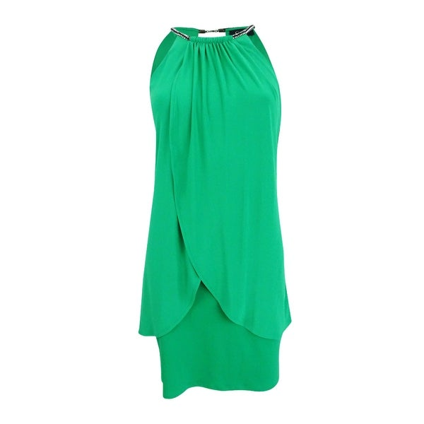 Jessica Simpson Women's Sleeveless Embellished Sheath Dress