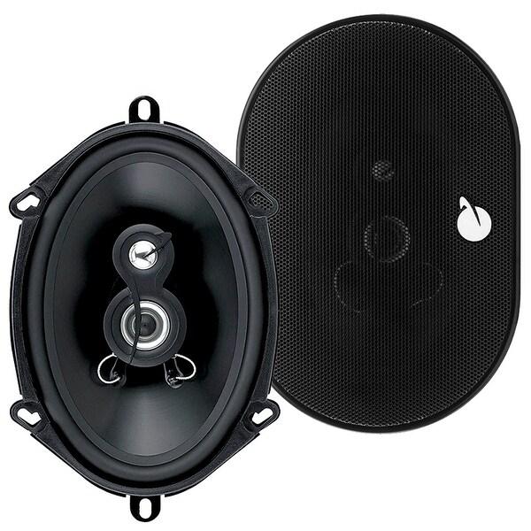Planet Audio TRQ573 Torque 300 Watt (Per Pair), 5 x 7 Inch, Full Range, 3 Way Car Speakers (Sold in Pairs)