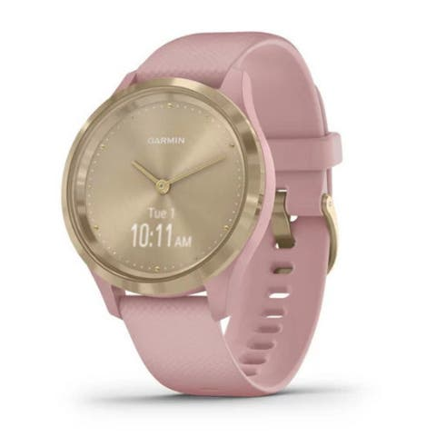 Garmin vivomove 3S Hybrid Smartwatch (Light Gold with Dust Rose Band)