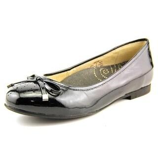 Propet Emma Round Toe Patent Leather Flats