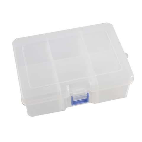 Unique Bargains Unique Bargains Transparent 6 Compartments Plastic Electronic Component Case Holder