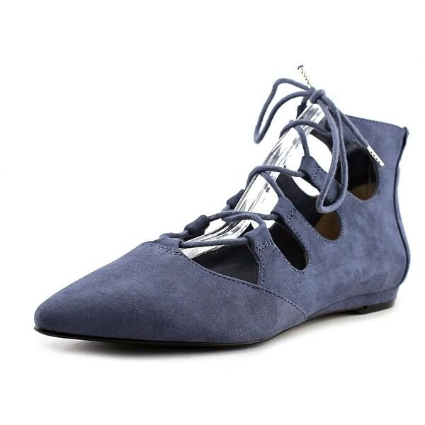 Bar III Lasso Women Open Toe Canvas Blue Gladiator Sandal