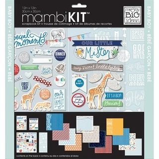 "Me & My Big Ideas Page Kit 12""X12""-Cool Baby Boy"