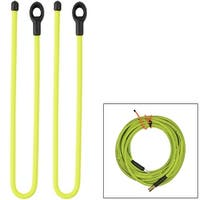 "Nite ize gear tie loopable twist tie 24"" neon yellow 2pk gll24-33-2r6"