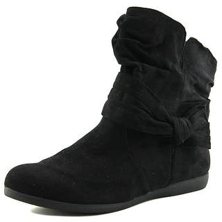 Rampage Betsy Women Round Toe Synthetic Black Bootie|https://ak1.ostkcdn.com/images/products/is/images/direct/f38e67318cb487ef75ef7d6edf3f1a74a5275943/Rampage-Betsy-Women-Round-Toe-Synthetic-Black-Bootie.jpg?impolicy=medium