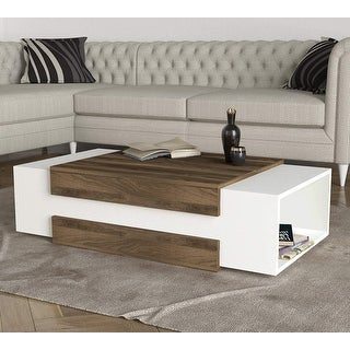 Nora Coffee Table White-Brown