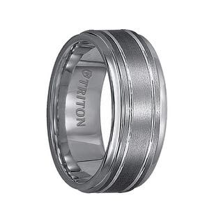 FREDERICK Step Edge Tungsten Carbide Ring with Raised Brushed Center and Polished Offset Grooves by Triton Rings - 9 mm|https://ak1.ostkcdn.com/images/products/is/images/direct/f38f23154fdd2845f16f08a615983599fe599762/FREDERICK-Step-Edge-Tungsten-Carbide-Ring-with-Raised-Brushed-Center-and-Polished-Offset-Grooves-by-Triton-Rings---9-mm.jpg?impolicy=medium