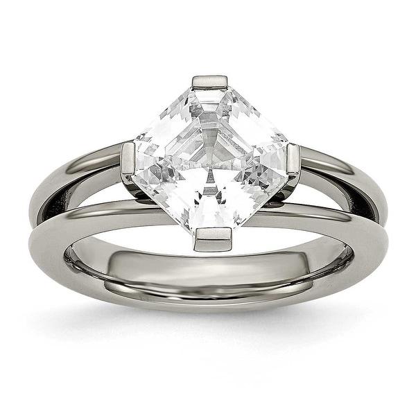 Titanium CZ Ring (3 mm)