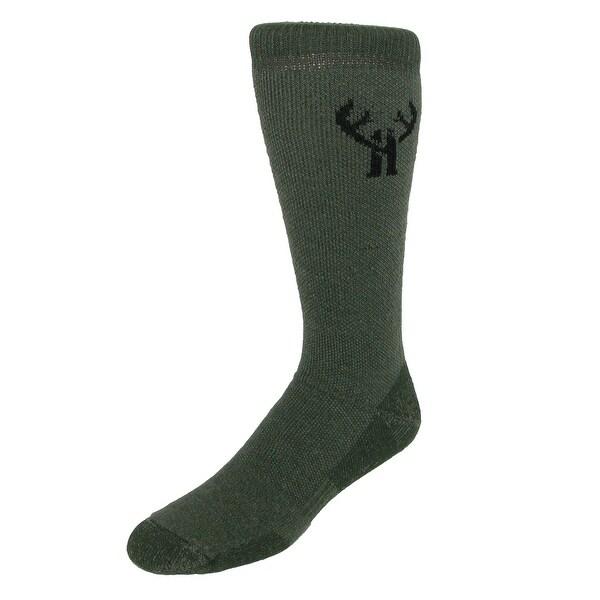 Huntworth Men's Merino Wool Hiker Boot Sock (2 Pair Pack)