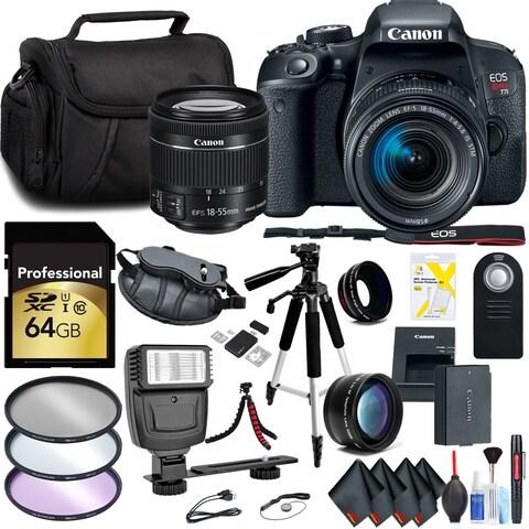 Canon EOS Rebel T7i DSLR Camera with 18-55mm Lens Kit